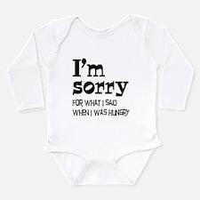 Cute Diet Long Sleeve Infant Bodysuit