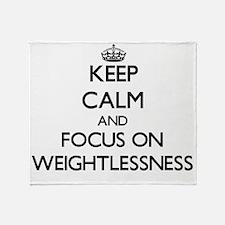 Keep Calm by focusing on Weightlessn Throw Blanket