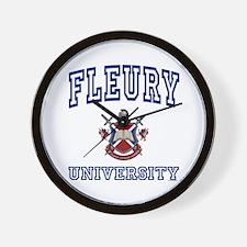 FLEURY University Wall Clock