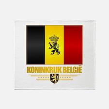 Kingdom of Belgium Throw Blanket