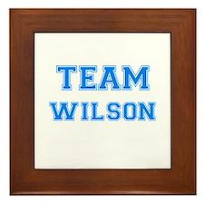 TEAM WILSON Framed Tile