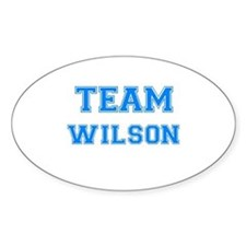 TEAM WILSON Oval Decal