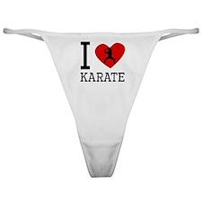 I Heart Karate Classic Thong