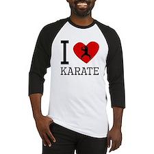 I Heart Karate Baseball Jersey