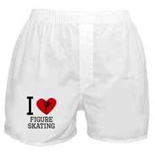 I Heart Figure Skating Boxer Shorts