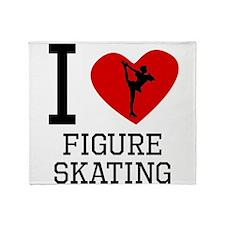I Heart Figure Skating Throw Blanket