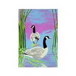 Canada Geese Rectangle Magnet (100 pack)