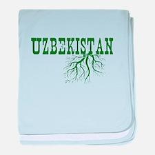 Uzbekistan Roots baby blanket