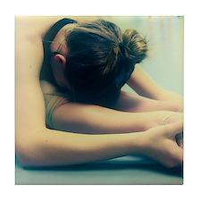 Ballerina Ballet Dancer Student at Rest Tile Coast