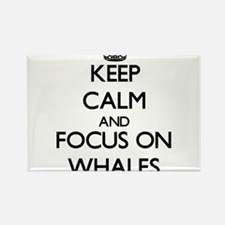 Keep Calm by focusing on Whales Magnets