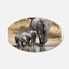 Elephant mom and babies Wall Decal