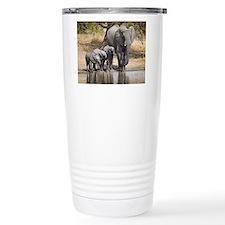 Elephant mom and babies Travel Mug