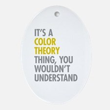 Color Theory Thing Ornament (Oval)