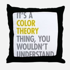 Color Theory Thing Throw Pillow