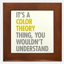 Color Theory Thing Framed Tile