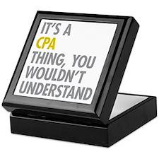 Its A CPA Thing Keepsake Box