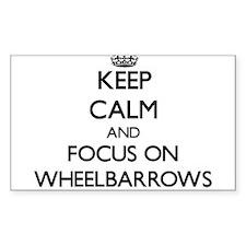 Keep Calm by focusing on Wheelbarrows Decal