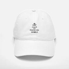 Keep Calm by focusing on Wheels Baseball Baseball Cap