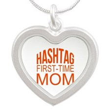 1st Time Mommy Hashtag Necklaces