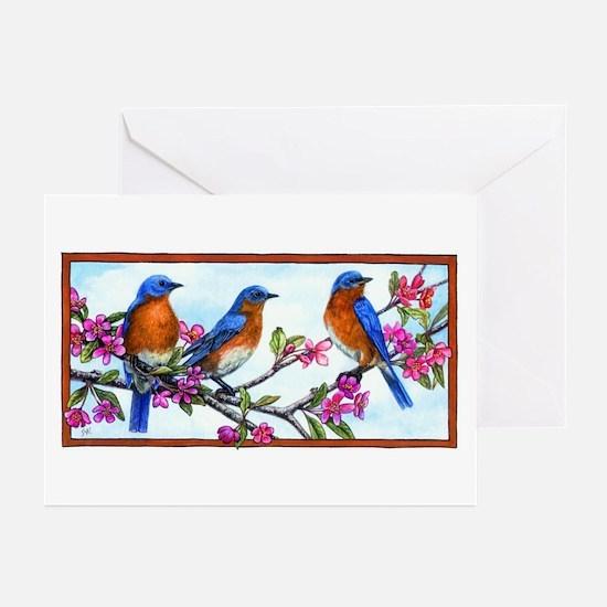 Bluebirds & Blossoms Greeting Cards (Pk of 10)