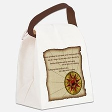 Harvest Moons Compass Rose Canvas Lunch Bag