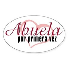 Abuela, Pink Oval Decal