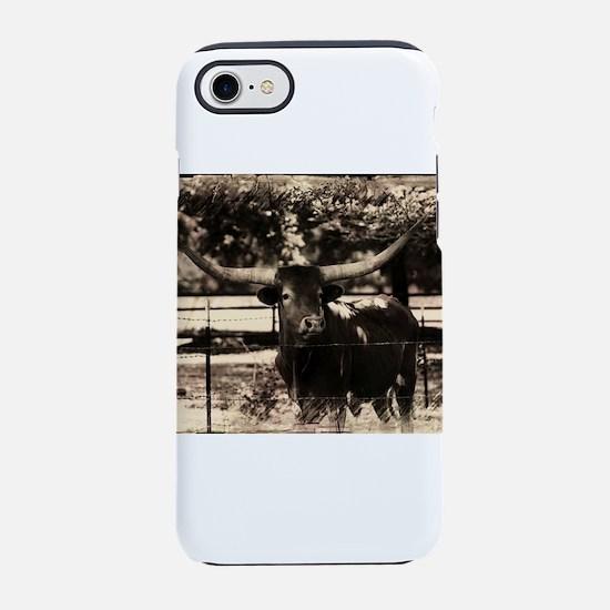 Longhorn Cattle iPhone 7 Tough Case