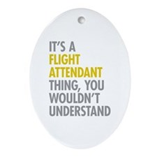 Flight Attendant Thing Ornament (Oval)