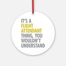 Flight Attendant Thing Ornament (Round)