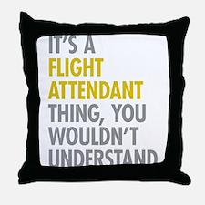 Flight Attendant Thing Throw Pillow