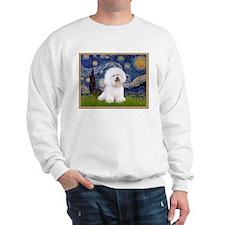 Starry Night & Bichon Frise Sweatshirt