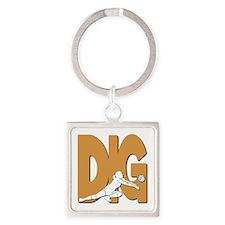DIG VB Square Keychain