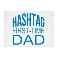 Hashtag First Time Dad 5'x7'Area Rug