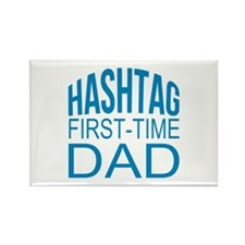 Hashtag First Time Dad Rectangle Magnet (10 pack)