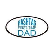 Hashtag First Time Dad Patches