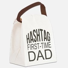 Hashtag First Time Dad Canvas Lunch Bag