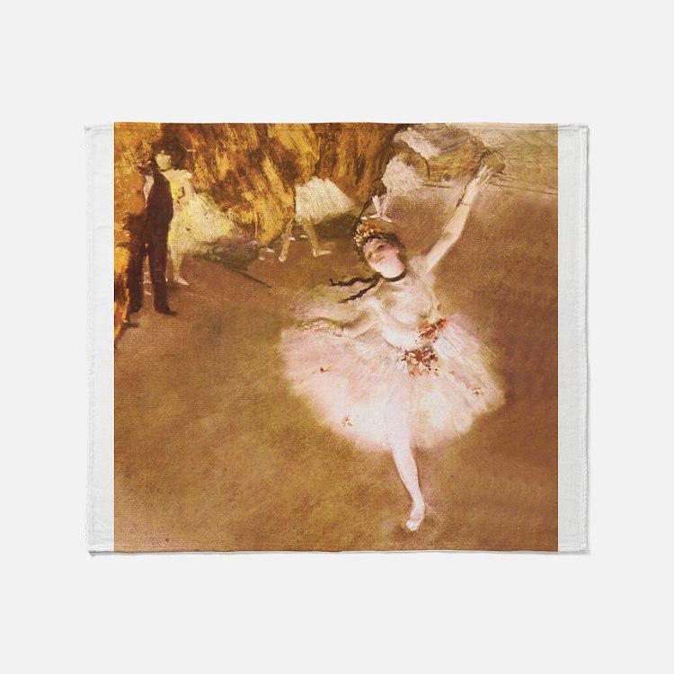 Ballet Dancer Degas Pink Impressionist Throw Blank