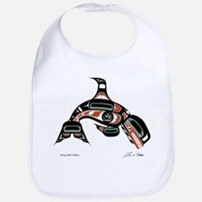 Diving Killer Whale Bib