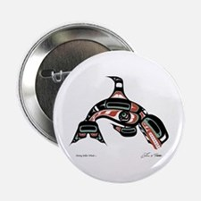 """Diving Killer Whale 2.25"""" Button (10 pack)"""