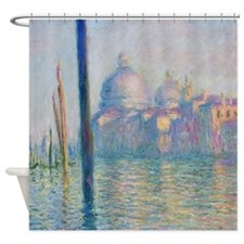 Grand Canal Venice Monet Painting Shower Curtain