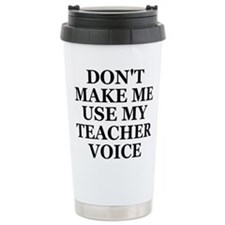 Cute Teacher voice Travel Mug