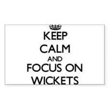 Keep Calm by focusing on Wickets Decal