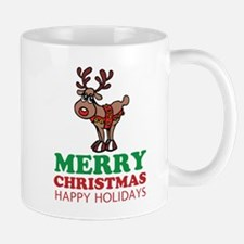 Personalized Merry Christmas Wishes Reindeer Mugs