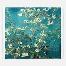 Van Gogh Almond Blossoms Tree King Duvet