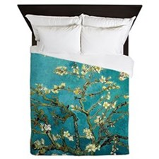 Van Gogh Almond Blossoms Tree Queen Duvet