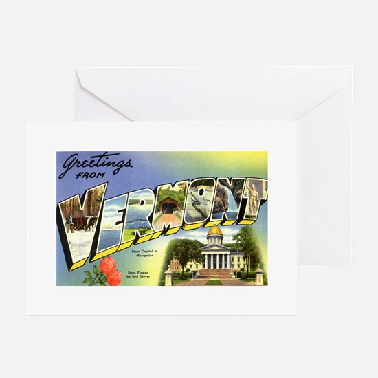 Greetings from Vermont Greeting Cards (Package of