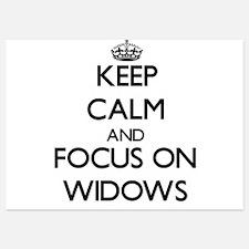 Keep Calm by focusing on Widows Invitations