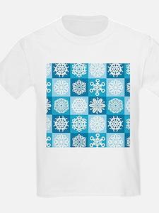 Checkered Snowflakes T-Shirt