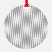Grey Chevron Zigzag Ornament