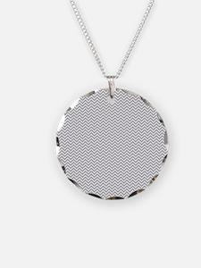 Grey Chevron Zigzag Necklace